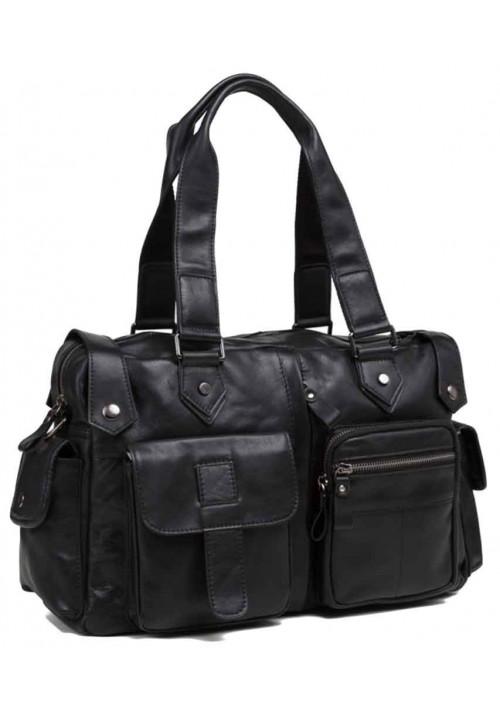 Мужская кожаная дорожная сумка TIDING BAG 8400A