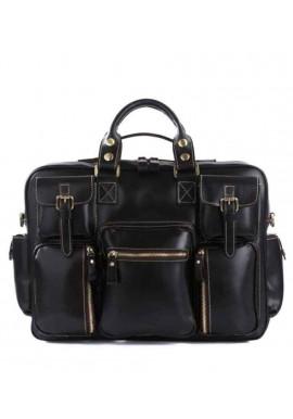 Фото Мужская кожаная дорожная сумка TIDING BAG 7028A