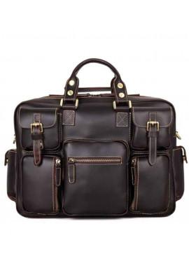 Фото Мужская кожаная дорожная сумка TIDING BAG 7028Q