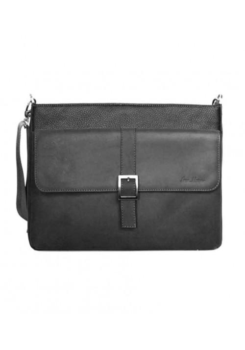 Модная мужская сумка ISSA HARA черная