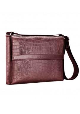 Фото Деловая мужская сумка на плечо ISSA HARA коричневая