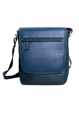 Фото Мужская кожаная сумка через плечо ISSA HARA синяя