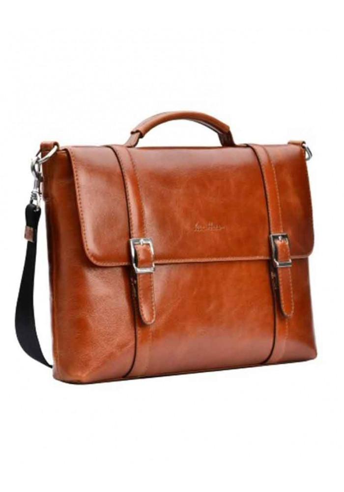 Брендовая сумка для мужчины ISSA HARA рыжая