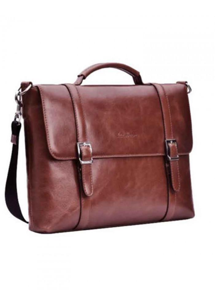 Брендовая сумка для мужчины ISSA HARA коричневая
