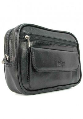 Фото Мужская кожаная сумка на пояс Bond 165