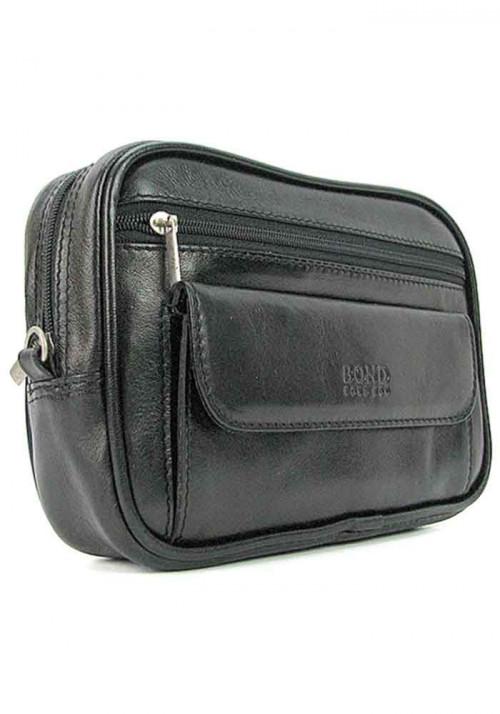 Мужская кожаная сумка на пояс Bond 165