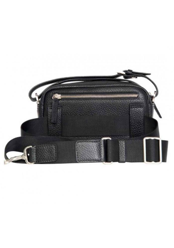 a229065fcf8b ... Сумочка мужская кожаная ISSA HARA черная, фото №3 - интернет магазин  stunner.com