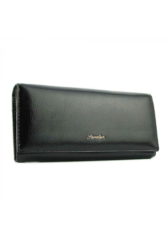 Женский кошелек из экокожи 6117 черный
