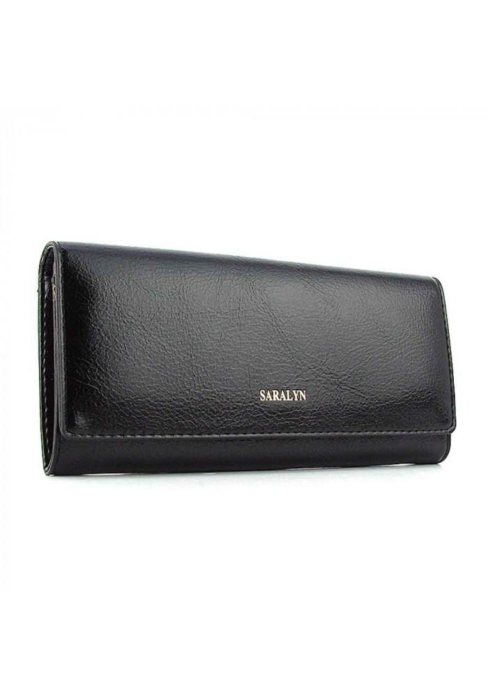 Женский кошелек из экокожи Saralyn 0025 черный