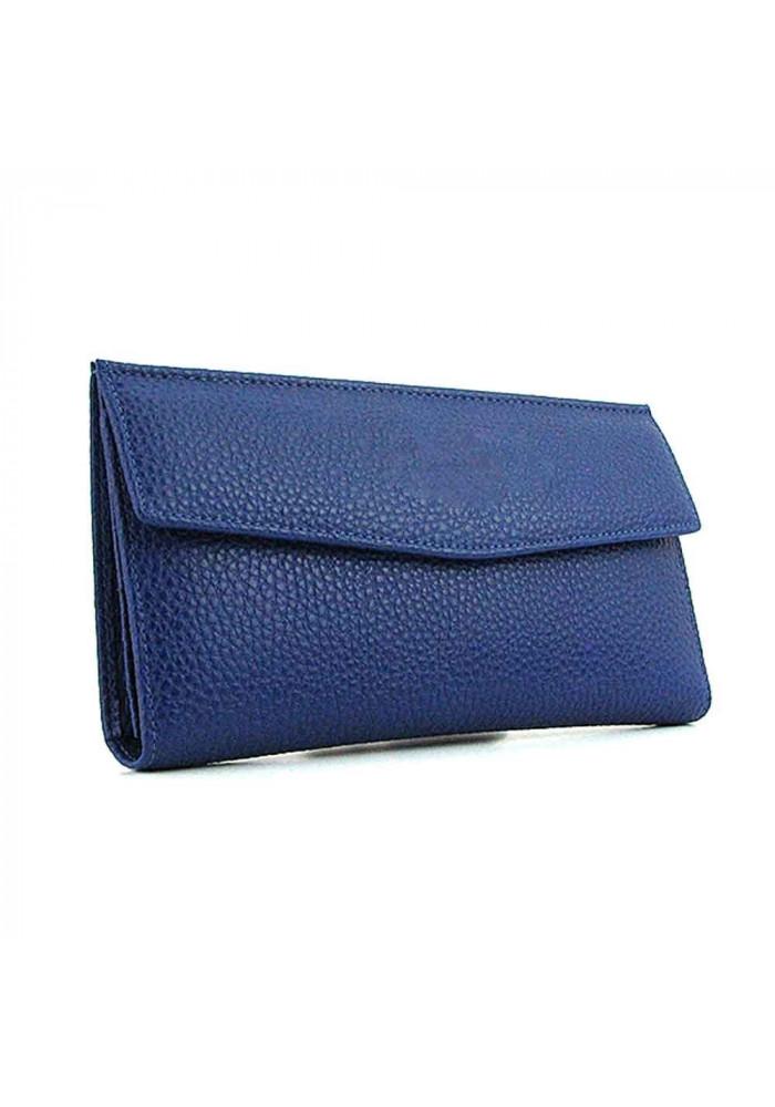 Синий женский кошелек из кожи 1237