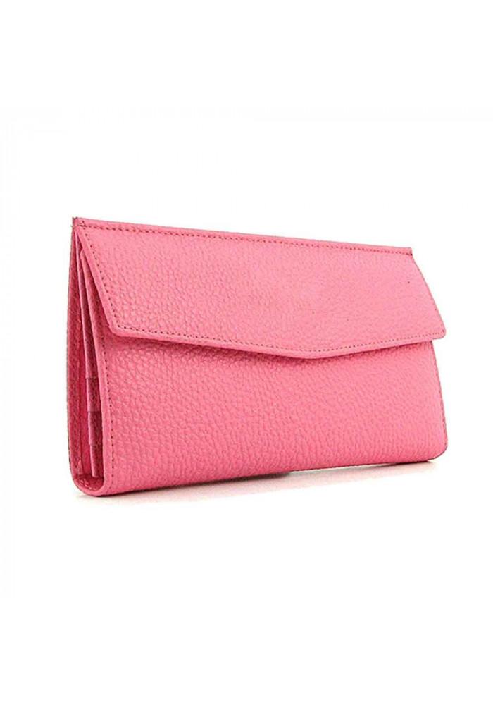 Розовый женский кошелек из кожи 1237