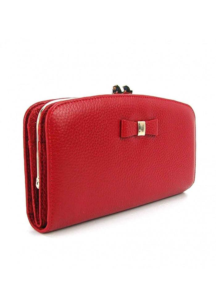 Женский кожаный кошелек Prensiti 2227 красный