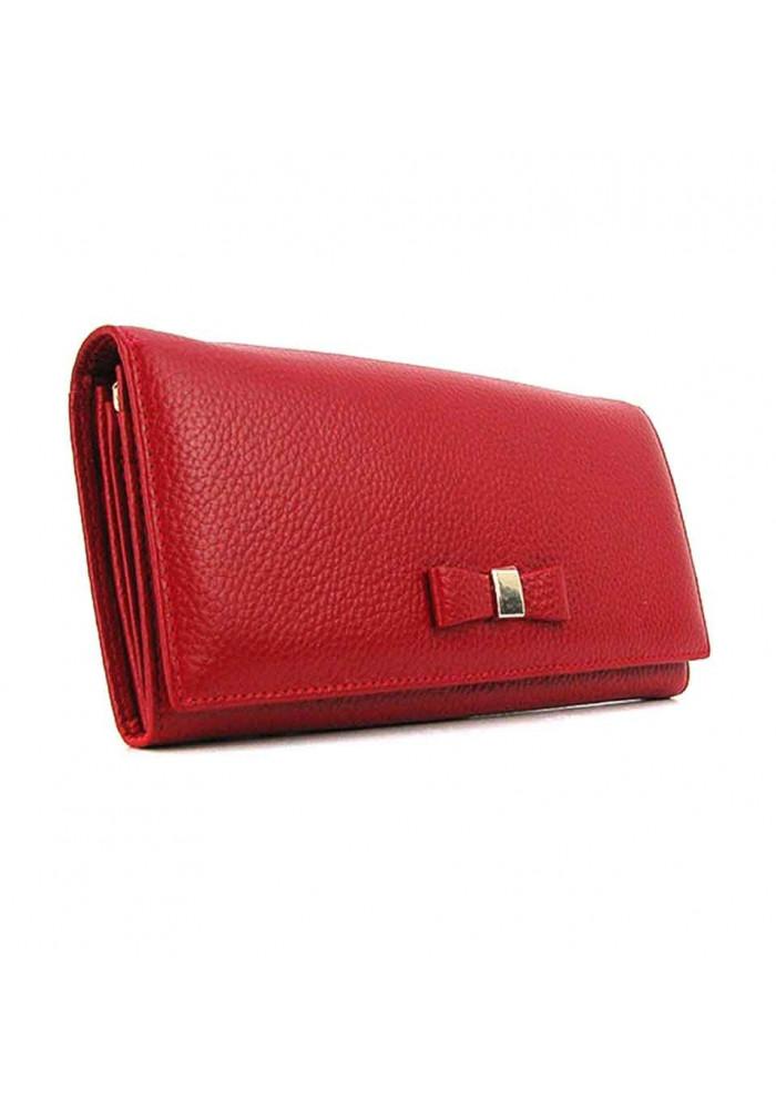 Женский кожаный кошелек Prensiti 2221 красный