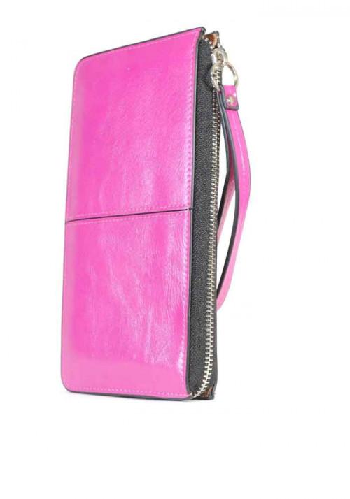 Женский кошелек на молнии с ручкой