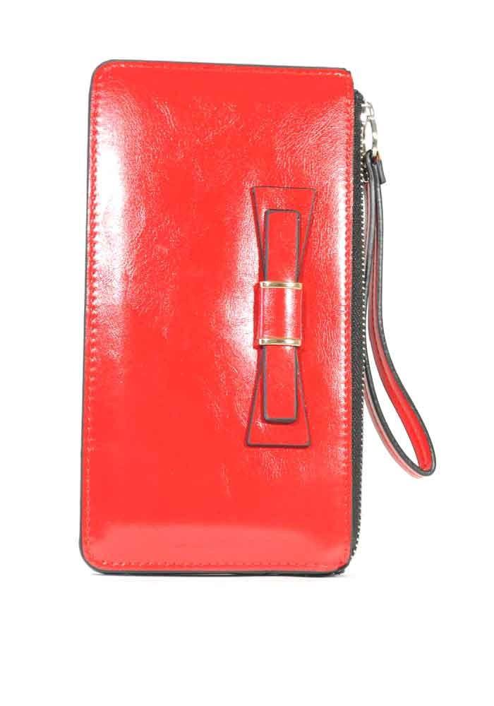 Фото Красный женский кошелек с ручкой 838-Y208-15