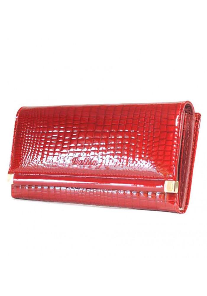 Красный лаковый женский кошелек Balisa