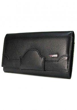 Фото Черный кожаный женский кошелек Desisan 128