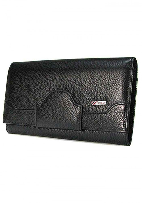Черный кожаный женский кошелек Desisan 128
