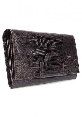 Фото Коричневый кожаный женский кошелек Desisan 128