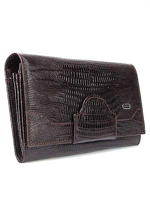 Коричневый кожаный женский кошелек Desisan 128
