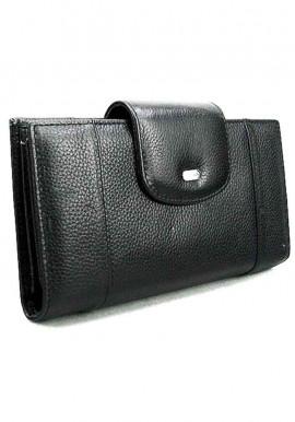 Фото Черный кожаный женский кошелек Desisan