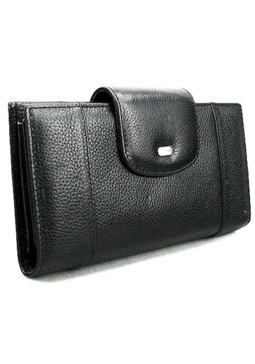 Черный кожаный женский кошелек Desisan