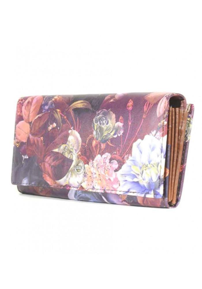 Женский кошелек с цветами FLOWERS-1