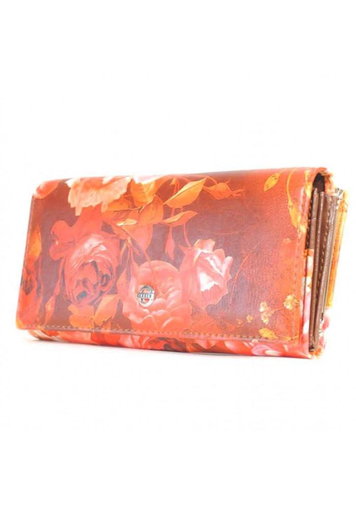 Женский кошелек с яркими цветами