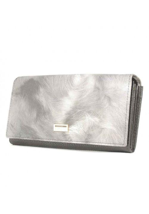 Серый матовый женский кошелек Canevo