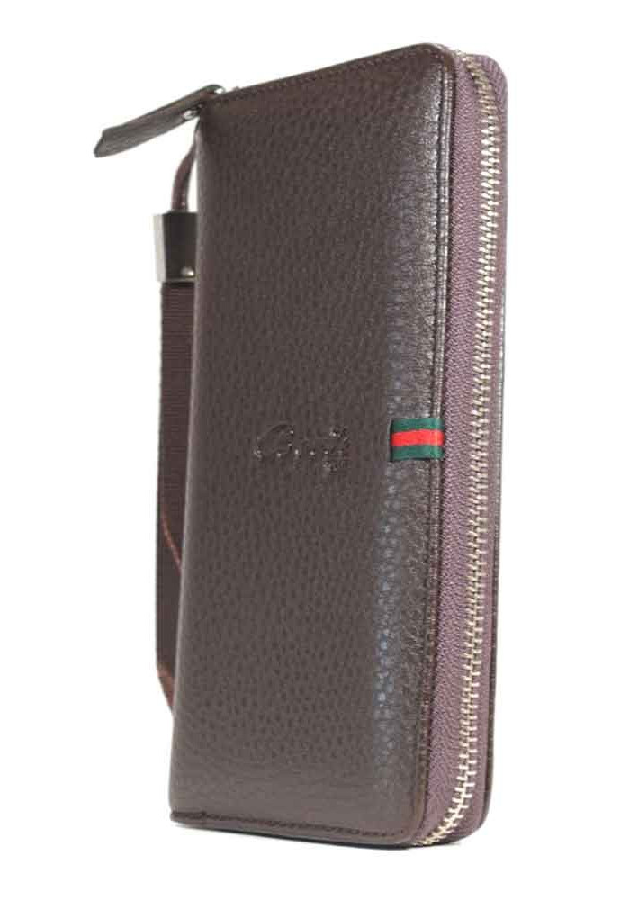 Коричневый кошелек с ручкой HS-111