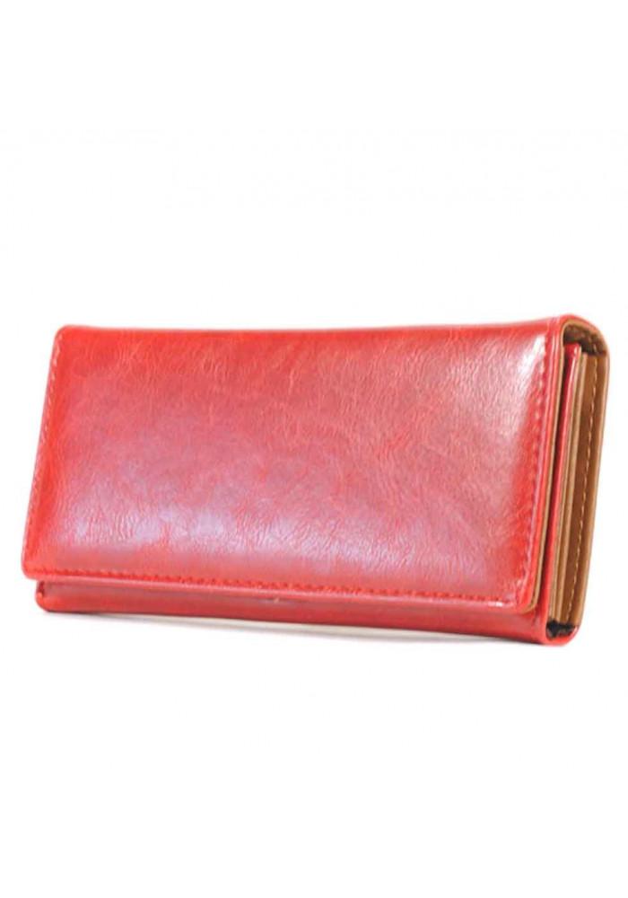 Красный матовый женский кошелек RED