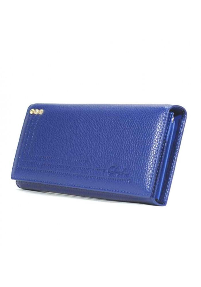 Синий матовый женский кошелек