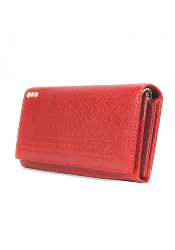 Красный матовый женский кошелек