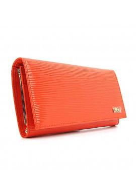 Фото Кожаный женский кошелек оранжевого цвета Jenny 149-21