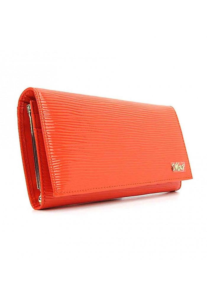 Кожаный женский кошелек оранжевого цвета Jenny 149-21