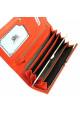 Кожаный женский кошелек оранжевого цвета Jenny 149-21, фото №5 - интернет магазин stunner.com.ua