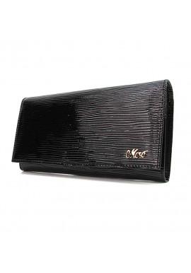 Фото Кожаный женский кошелек черного цвета Jenny 149-21