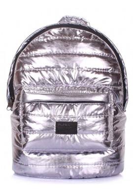 Фото Рюкзак серебристого цвета Poolparty Backpack Theone Silver