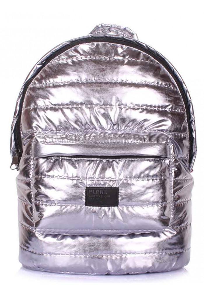 Рюкзак серебристого цвета Poolparty Backpack Theone Silver