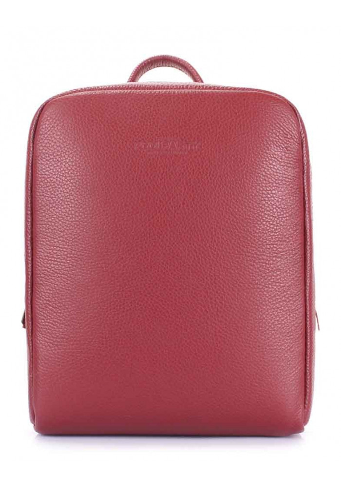 Женский кожаный рюкзак Poolparty Cult Leather Marsala