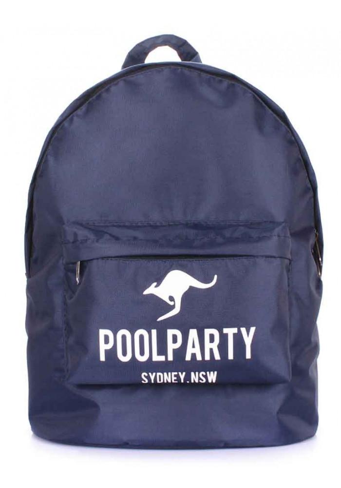Рюкзак молодежный синий Poolparty Backpack Oxford Blue