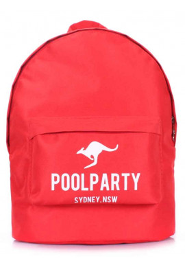 Фото Рюкзак молодежный синий Poolparty Backpack Oxford Red