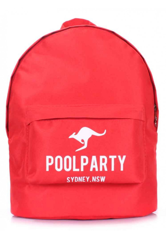 Рюкзак молодежный синий Poolparty Backpack Oxford Red