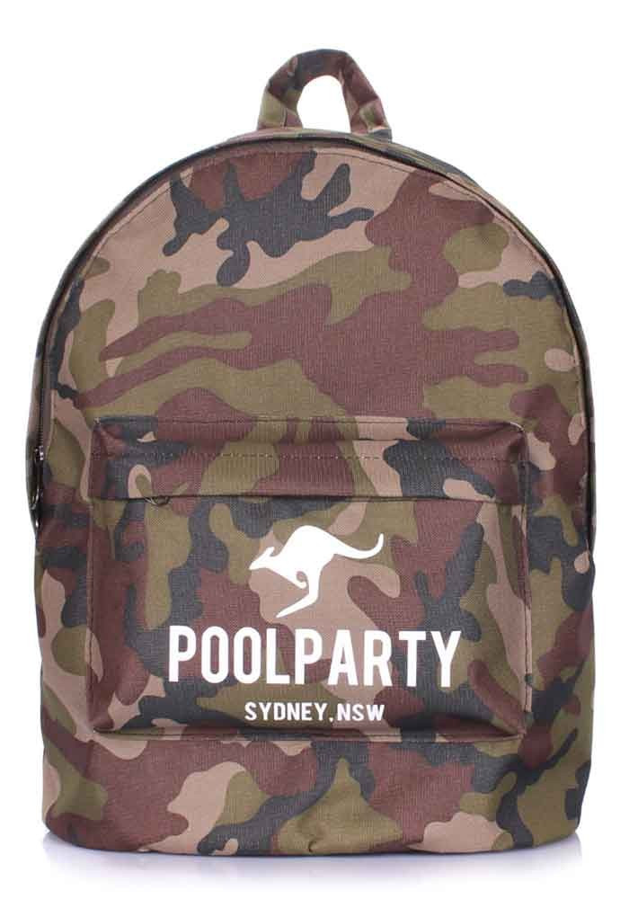 Рюкзак молодежный цвета хаки Poolparty Backpack Camo