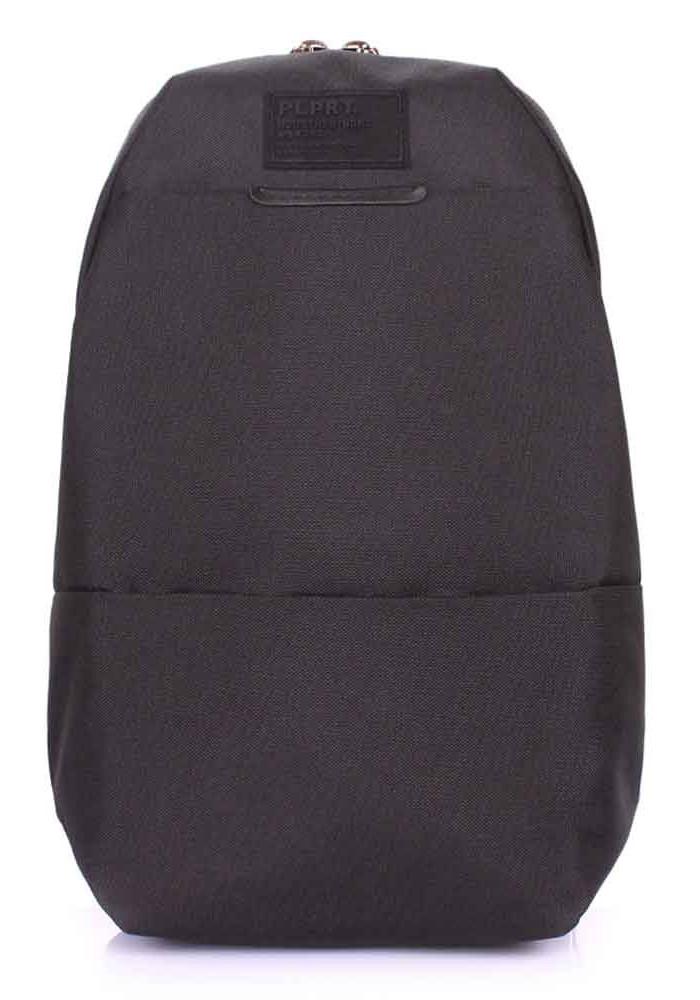 Рюкзак молодежный на одно плечо Poolparty Sling Black
