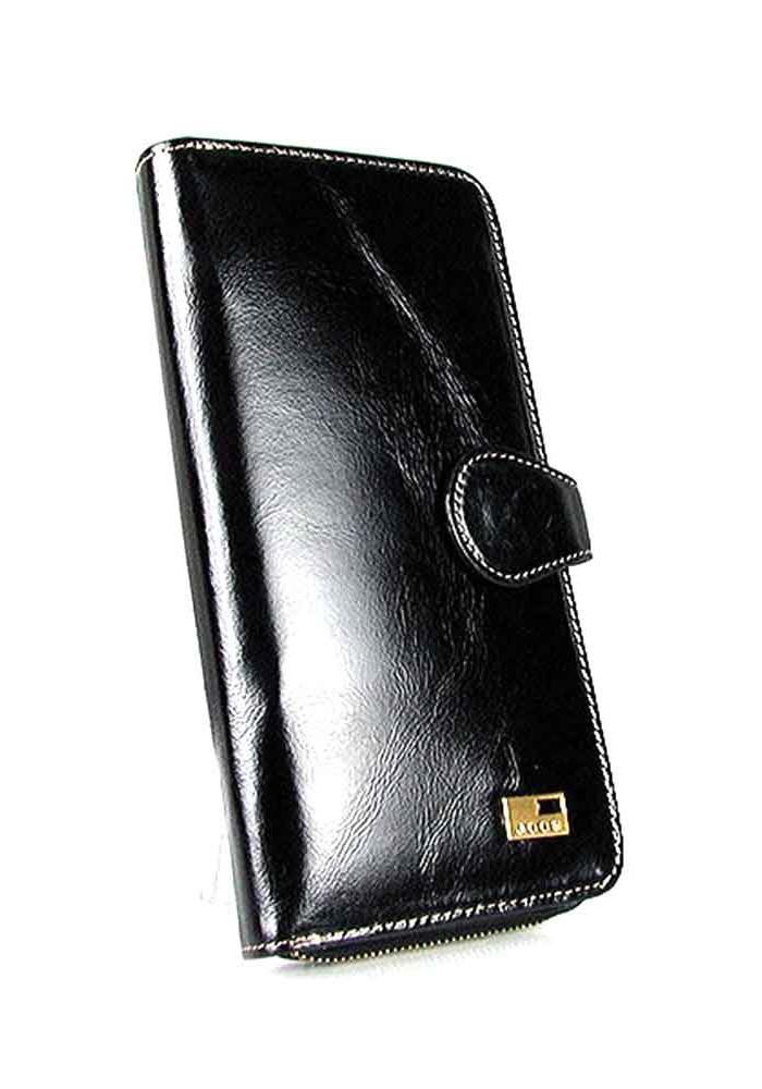 Кожаный черный женский кошелек JS 1032