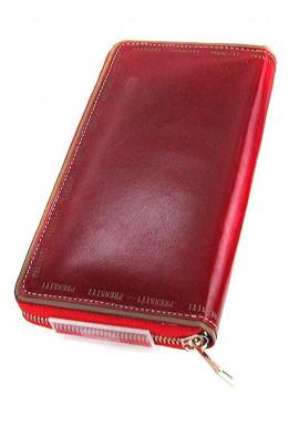 Фото Кожаный женский кошелек PRNT 131 бордо