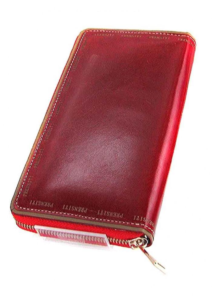 Кожаный женский кошелек PRNT 131 бордо