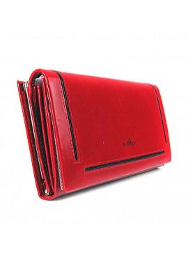 Фото Кожаный женский кошелек DeBalli 588 красный