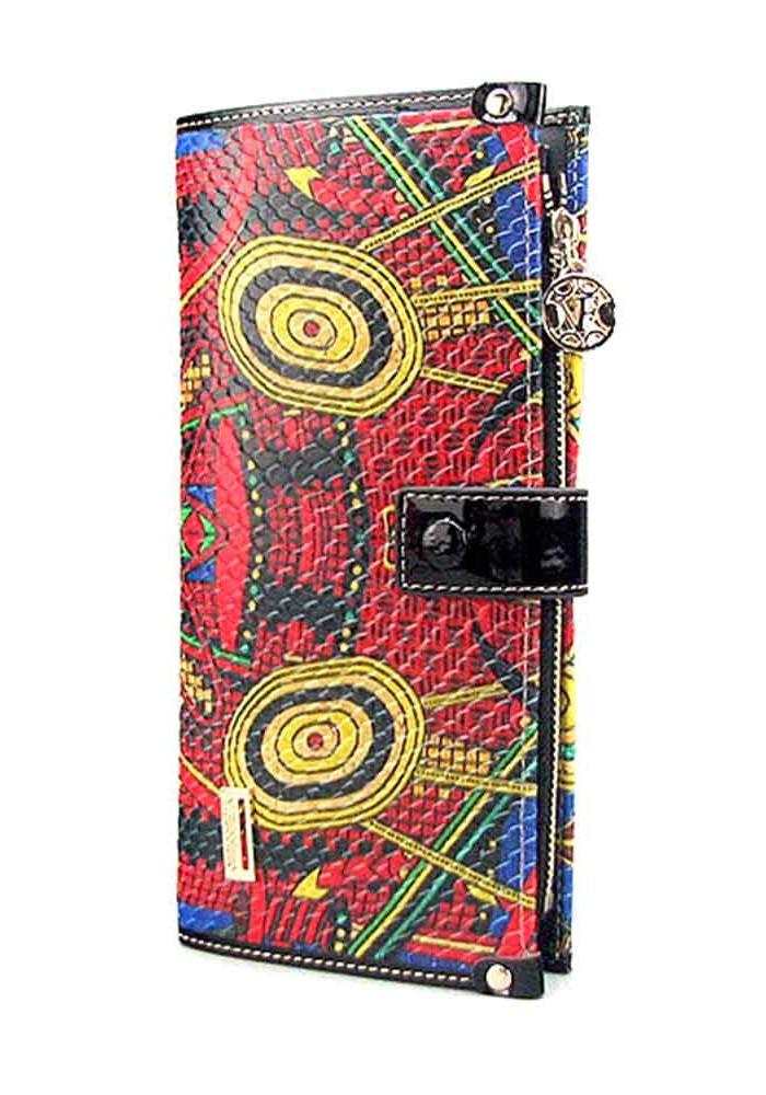 Цветной кожаный женский кошелек VF 68600-28